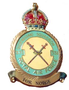The Badge of 331 (Norwegian) Squadron, Royal Air Force